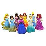 HOU&PR Princesa Ariel Rapunzel Blancanieves Cenicienta Belle Merida Pequeña muñeca Figura de Moda Ju...
