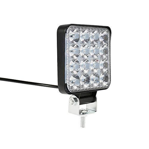 Faro Trabajo LED,12/24V 48W 6000K Focos LED Tractor IP67 Aplicar para SUV, UTV, ATV, Off-road,Camión,Moto (8)