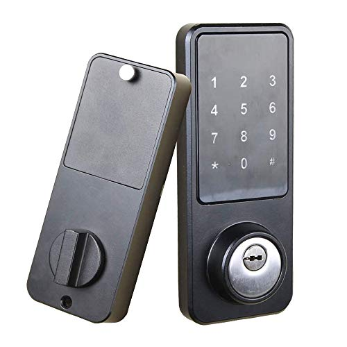 Smart Door Lock with Keypad, Keyless Entry Home with Your Smartphone, Bluetooth Digital Smart Deadbolt Door Lock Work with APP Control, Code and eKey, Auto Lock for Home Hotel Apartment