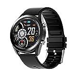 Relojes inteligentes para hombres, reloj inteligente para teléfonos Android y teléfonos iOS, círculo de color IPS Full HD de 1.28 pulgadas, reloj Fitness Tracker con monitor de sueño, color negro