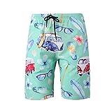 Meiju Pantalones de Playa Talla Grande 3D, Bañadores de Deporte para Hombre de Estampados Verano Entrenamiento Cortos de Surf Natación Pantalón (6XL,Bus turístico)