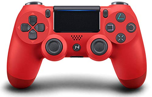 Game Controller for PS4,Wireless Controller for Playstation 4 with Dual Vibration Game Joystick(Magma Red)