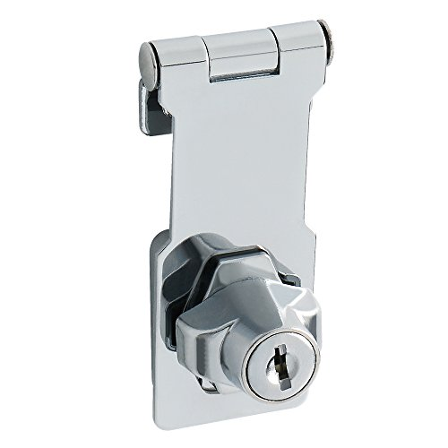 Alise 3-Inch Clasp Keyed Hasp Latch Lock Safety Gate Latches,Without Padlock,Chrome