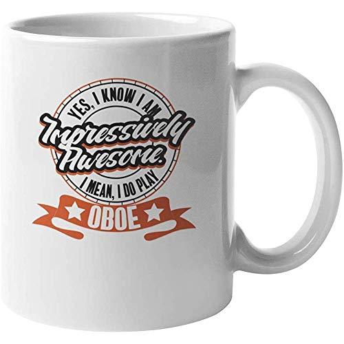 Porseleinen mok Indrukwekkend spelen hobo. Koffie Thee Cadeaumok voor Expert Oboists Koffie Mok 110z Keramische Mok Porselein Cup Porselein Mok Beker