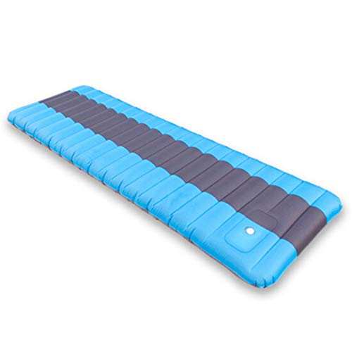 SHENAISHIREN Camping Sleeping Pad,Moisture-proof Mattress Sleeping Pad,Inflatable Seat Cushion ,For Car Travel, Picnic Rest,Outdoor Camping Size: 190 * 60 * 12cm (Color : Baby Blue)