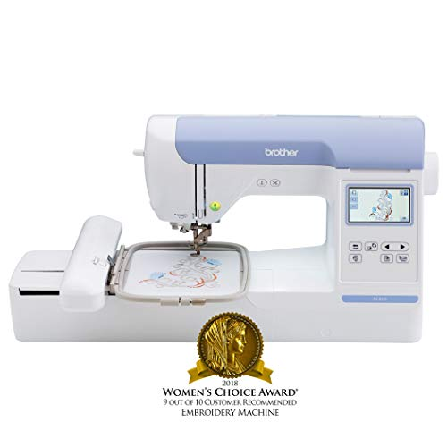 Brother Embroidery Machine, PE800 5inch x 7inch, Embroidery-Only Machine with Color Touch LCD Display, USB Port, 11 Lettering Fonts, and 138 Built-In Designs (Renewed)