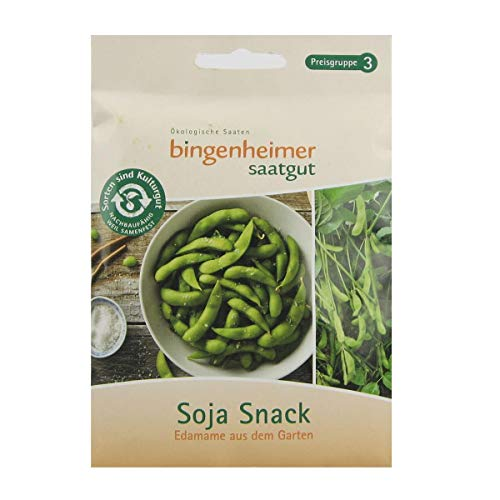 Bingenheimer Saatgut Soja Snack Edamame aus dem Garten bio für ca. 50 Pflanzen