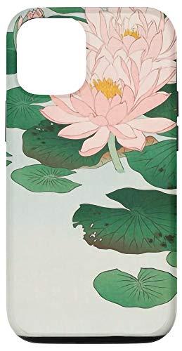 iPhone 12/12 Pro Japanese Aesthetic Lotus Flower Vintage Woodblock Art Print Case
