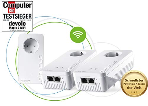 Devolo Magic 2, 2400 WiFi AC Multiroom Kit DLAN 2.0, Mesh-Netwerk, Wit