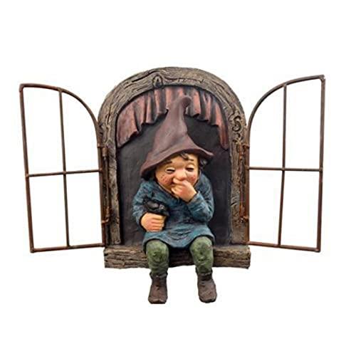 Elf Uit De Deur Boom Hugger Naughty Tuin Gnome Peeker Grappige Tuin Decoratie Boom Sculptuur Veranda Ornament Art…