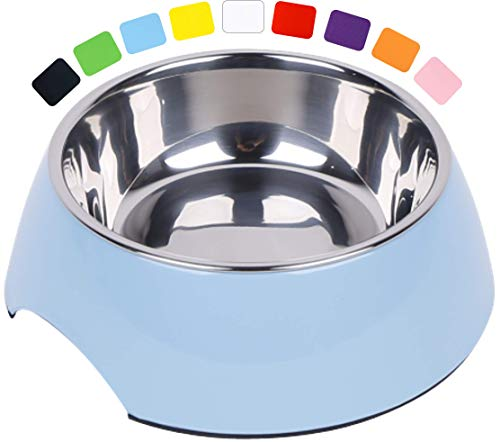 DDOXX Fressnapf, rutschfest | viele Farben & Größen | für kleine & große Hunde | Futter-Napf Katze | Hunde-Napf Hund | Katzen-Napf Edelstahl-Napf | Melamin-Napf | Blau, 160 ml
