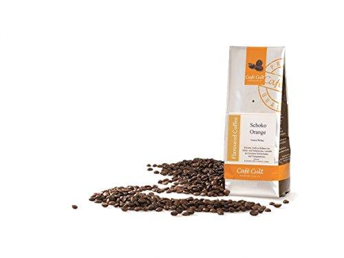 1kg - frischer Aroma-Röstkaffee - Café Cult - Schoko-Orange - ganze Bohnen