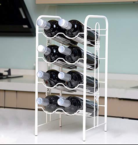 SWNN Estante De Vino Estante De Vino Decoración Estante De Vino Soporte De Copa De Vino Doméstico Estante De Botella Decorativo Estante De Vino Creativo Tamaño: 22 * 23 * 48 Cm