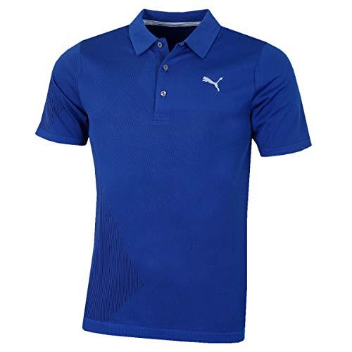 PUMA Golf Mens Evoknit Dassler Polo Shirt XL Sodalite Blue