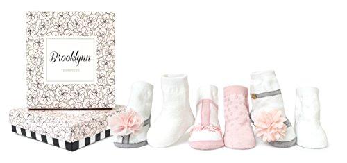Trumpette Baby Girls Sock Set-6 Pairs, Brooklynn's - Assorted Pastels, 0-12 Months