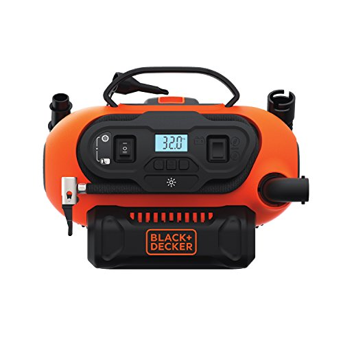 BLACK+DECKER 20V MAX Multi-purpose Inflator, Cordless & Corded Power - Tool Only (BDINF20C)