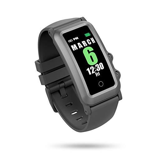 BIGCHINAMALL Reloj Inteligente Niño, Niña Pulsera Actividad Reloj Inteligente de para Deportivo Monitores Smartwatch Contador Pasos Pulsometro Deporte Relog Digitales Watch (Black)