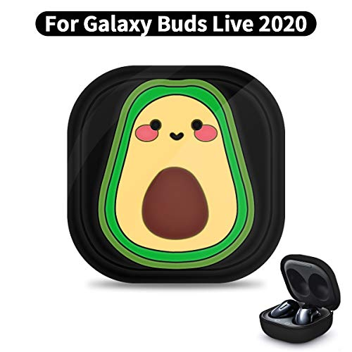 Woocon Quicksand Avocado Silicone Case Designed for Galaxy Buds Live,Cute 3D Cartoon Fun Funny Kids Teens Cover,Best Gift for Girls or Couples ,for Samsung Galaxy Buds Live Case (2020)