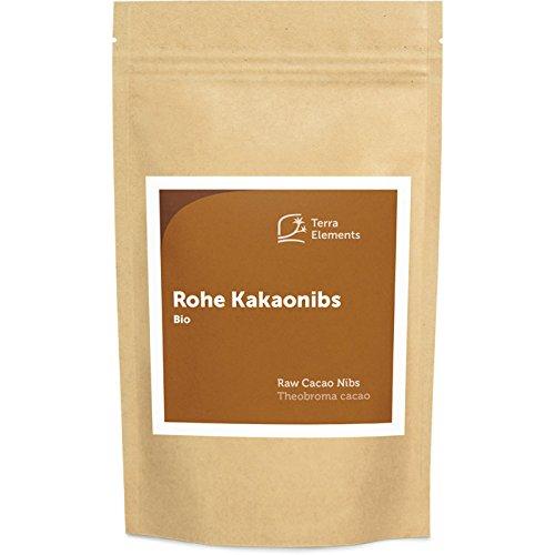 Terra Elements Bio Criollo Kakaonibs 200 g I Unbehandelt I 100% rein I Vegan I Rohkost