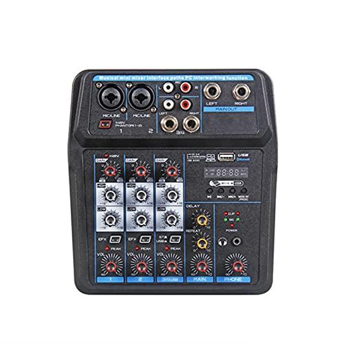Profesional Mini 4 Canales Sistema de Control de Audio Digital Mezclador con Placa de Sonido Interfaz de Audio USB Mezclador de...