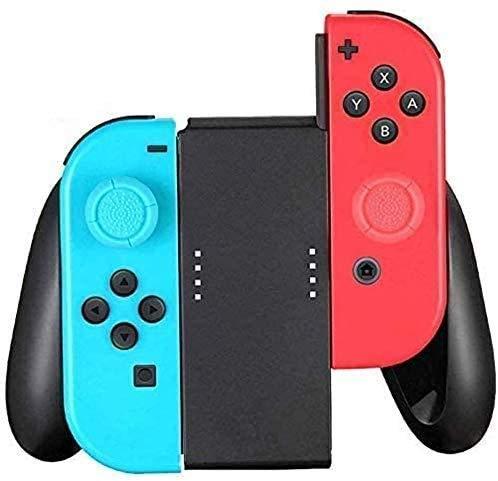 TPFOON Soporte para Nintendo Switch JoyCon, Mando Grip Joycon Hand Grip con 2 Agarres para el Pulgar(Negro)