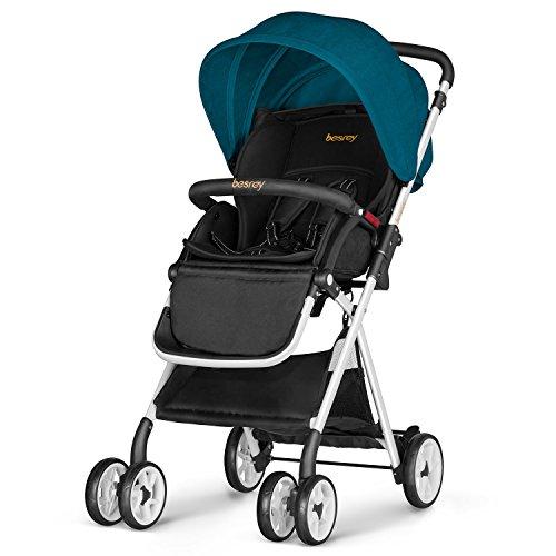 Silla de paseo, Besrey Cochecito plegable Silla paseo ligera para bebe/niños hasta...