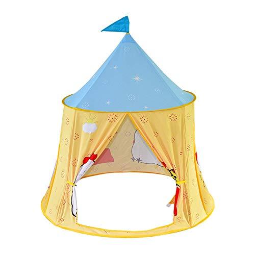 inChengGouFouX Regalos para Niños Carpa de los niños Juego de Interior Casa Interior Tienda del Juguete de los niños al Aire Libre Tiendas de Juguete (Color : Light Yellow, Size : 116x120cm)