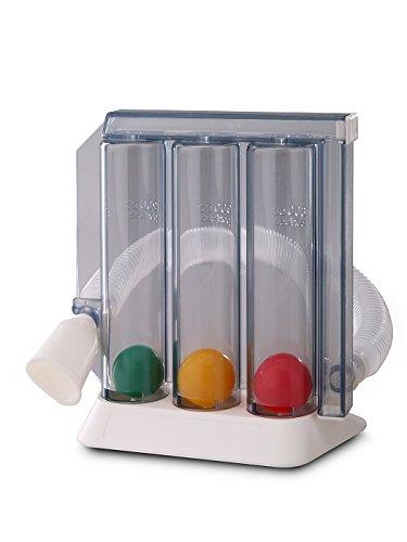3-Kammer Atemtrainer ATC, Atemtrainer für Logopädie Therapie Ergotherapie Lungentraining Lungentrainer Atemtraining