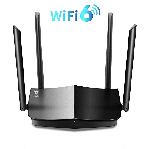 WiFi 6 Router-AX1500 Gigabit Dual Band Wi-Fi Router, Next-Gen 802.11ax Wireless Router Supporting MU-MIMO, Mesh and OFDMA with 1xWAN Port and 4 x Gigabit LAN Ports, WPA3, WPS for Whole-Home Coverage