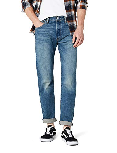 Levi's 501 Original Fit Jeans, Blu Hook, 35W / 32L Uomo