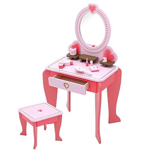 JYBD Kinder Frisiertisch,Kosmetiktisch Spielzeug Für Kinder Mit Kosmetikspiegel Und Funktionierendem Haartrockner