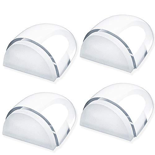 Junlic Fermaporta Trasparente, [4 Pezzi] Fermaporta a Pavimento Adesivo Protezioni per Pareti,Pavimento e Mobili Uso Casa e Ufficio