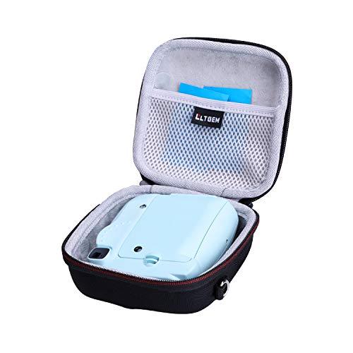 LTGEM EVA-Hartschalenkoffer für Fuji Instax Mini 8-11 Sofortbildkamera, Eisblau, mit Tragetasche