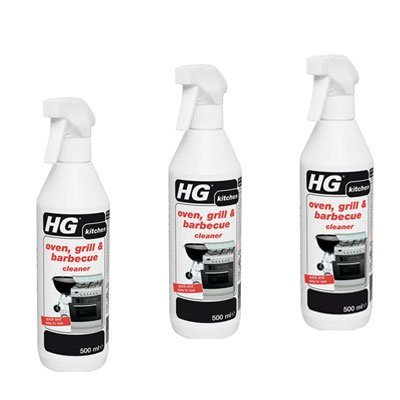 HG Oven, Grill And Barbecue Cleaner 500ml (Pack van 3) 138050106 x3