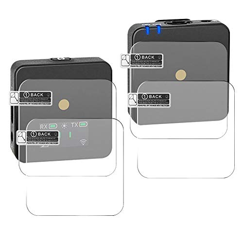 AFUNTA 4 x kratzfeste Displayschutzfolie für Rode Wireless Go, gehärtetes optisches Glas, 9H, unsichtbar, Displayschutzfolie für Rode Wireless Go Mikrofon Empfänger