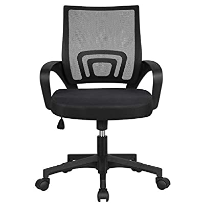 Yaheetech Mesh Office Chair Desk Chiar Computer Chair with Lumbar Support Home Office Furniture