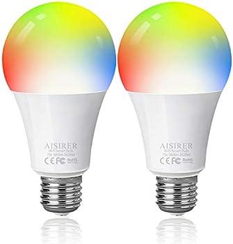 2-Pack Aisirer 60 Watt Equivalent A19 E26 Smart LED Bulbs