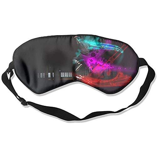 Slaap oogmasker Skate Skateboard zachte oogstrip verstelbare hoofdband Eyeshade Travel Eyepatch