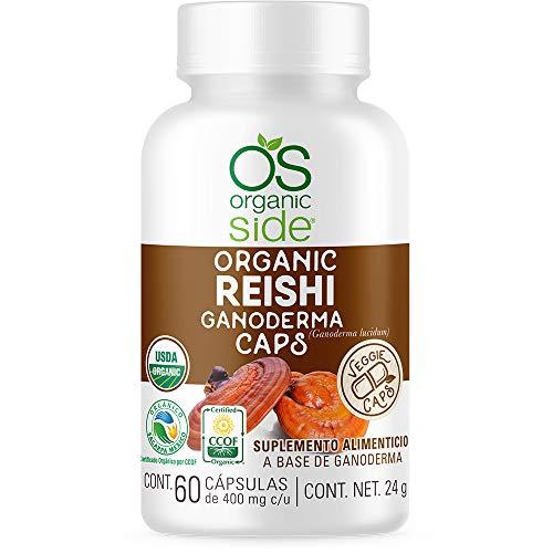 Reishi (Ganoderma) Orgánico 60 Cápsulas - Certificado USDA