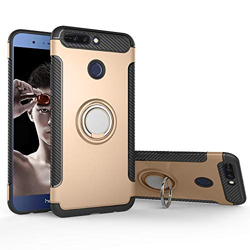 Case for Oppo F7 Youth CPH1859 realme 1 CPH1861 / F7 Youth Case Cover + 360 Degree Rotating Ring Holder Kickstand.for Oppo F7 Youth realme 1 Gold