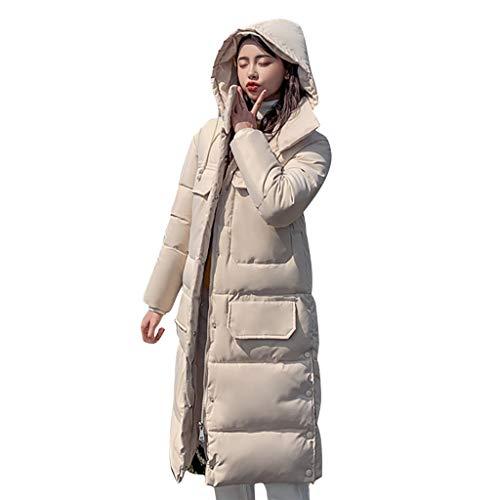 cappotto donna homebaby Homebaby Cappotto Donna Piumino Taglie Forti Elegante Giacca con Cappuccio Lunghi Invernali Ragazza Giubbotto Imbottito in Cotone Addensare Caldo Leggero Parka Outwear
