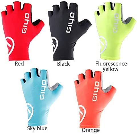 GIYO Bicycle Gloves Half Finger Outdoor Sports Gloves For Men Women Gel Pad