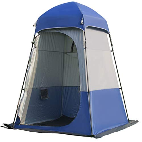 LMJ Single Tent with 5 Mesh Windows Windproof Rainrproof Tent Sun protection for Outdoor Fishing Shower (Color : Blue)