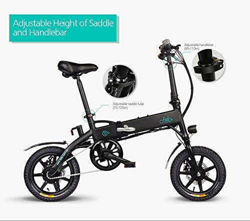 FIIDO D1 Vélo électrique se pliant pour adulte, vélo électrique, scooter électrique de 250W watts, bicyclette électrique pliable de 7,8 Ah / 10,4 Ah avec pédales, jusqu'à 25 km/h