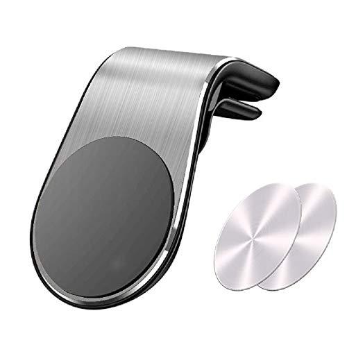Supporto Auto Smartphone Magnetico Universale (Garanzia a Vita) Porta Cellulare Auto per iPhone Xs/Xs Max/XR/X / 8/8 Plus / 7/7 Plus, Galaxy S10 / S10+ / S9+ Huawei P30 Pro P9 P10 and More (Argento)
