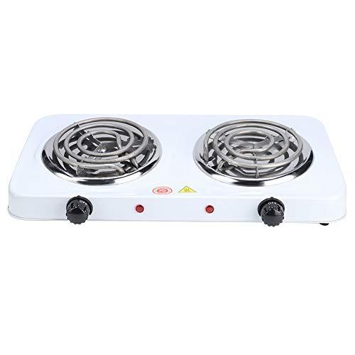 Chiwe Placas de cocción portátiles, quemadores Dobles eléctricos duraderos y antioxidantes, Cuenta con 2 quemadores controlados Individualmente para el hogar de la Cocina