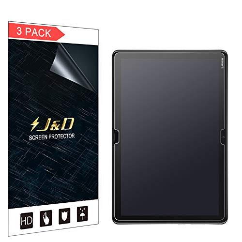 J&D Compatible para 3-Pack Protector de Pantalla para Huawei MediaPad M5 Lite, [Anti reflejante] [NO Cobertura Completa] Prima Película Mate Protector de Pantalla - [No para M5/M5 10 Pro/M5 10]