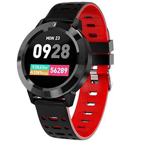 Alvnd Bluetooth Smart Armband met hartslagfrequentie, bloeddruk, zuurstof, fitnesstracker, informatieherinnering intelligent waterdicht horloge, B