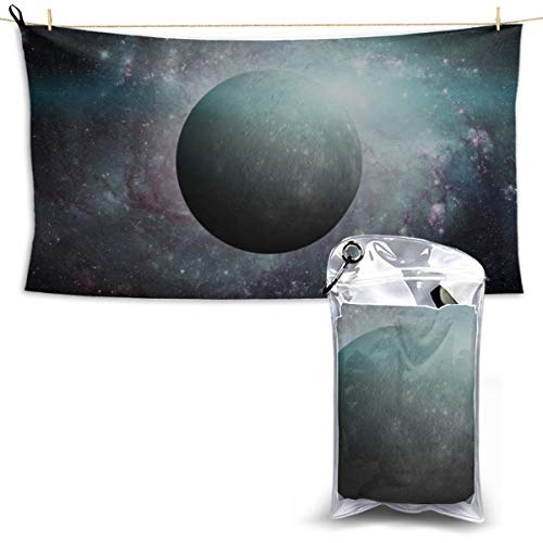 YSWPNA Beautiful Planets of The Solar System Sports Shower Towel Towels Sports Quality Microfiber Towels Boys Microfiber Beach Towel 27.5'' X 51''(70130cm) Best for Gym Travel Camp Yoga Fitnes