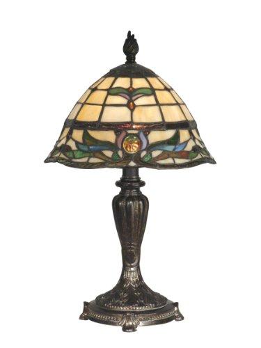 Dale Tiffany TT10087 Table Lamp, Fieldstone and Art Glass Shade